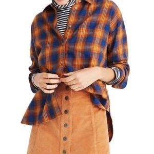Madewell westward Arden plaid button up shirt